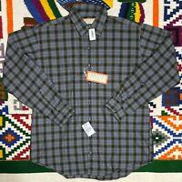 NOS Tags Arrow Archive 1944 Rayon Blend Chevella nwt XL Plaid Flannel Shirt