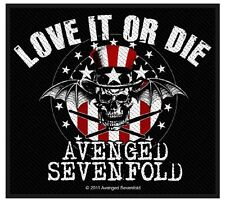 AVENGED SEVENFOLD - Patch Aufnäher Love it or die 10x8cm
