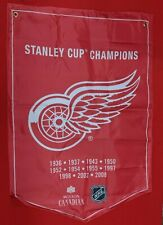 NHL DETROIT RED WINGS MOLSON CANADIAN STANLEY CUP BANNER