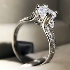 Women's 2 Carats Round Shape Lab Diamond Wedding Engagement Ring Size 6 R132