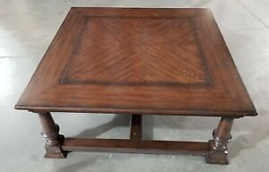 CTH Sherrill Furniture Walnut Squar Coffee Table FREE IN HOME S/H MOST USA