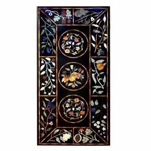 "48"" x 24"" Marble Coffee Table Top Handmade Inlay Home / Office Decor"