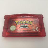 Authentic Pokemon Ruby Nintendo Gameboy Advance GBA | Saves | New Battery | VGC