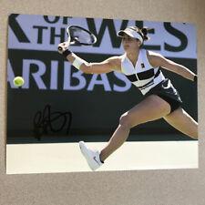 TENNIS Star BIANCA ANDREESCU signed 8X10 PHOTO exact PROOF - Wells Champ D