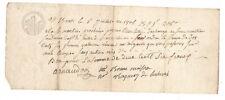 1807 manuscript receipt document handwritten