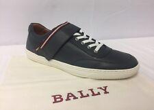 Bally 'oasys' Dark Grey Leather Strap Low Top SNEAKERS Sz 8/9