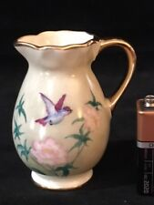 Limoges Miniature Pitcher Bird Flowers M & A #5338