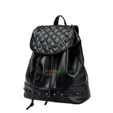 Women PU Leather Casual Backpack Rivet Travel Bag School Bag Korean Style Purse