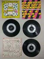 """THE COMMUNARDS - YOU ARE MY WORLD / SAY GOODBYE / MORE TO LOVE 7"""" VINYL LOT  VGC"""