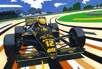 Ayrton Senna McLaren Formula 1 Art Print Glossy 8x6 Inches Hologram F1