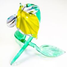 Original Blown Glass Figurine Handmade Flower Bindweed. Home decor. VIDEO