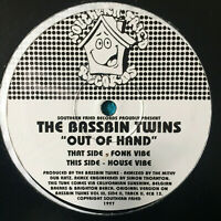 "The Bassbin Twins ‎– Out Of Hand  1997 UK Vinyl 12"" Single CB13  Mint  UNPLAYED"