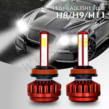 Pair H11 H8 H9 360W 36000LM LED Headlight Conversion Bulb Light Lamp Kit 6000K
