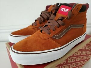 New Vans Off The Wall Ward Hi Mte Flannel/Glzed Ginger VN0A3JETQOW Men's Size 8