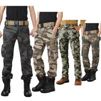 Military Men's Cotton Cargo Pants Combat Camouflage Camo Army Style Trousers