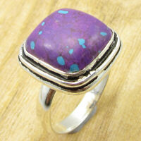 Purple Copper Turquoise GEM Ring Size 11.25 ! 925 Silver Plated Jewelry NEW