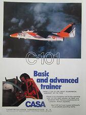 6/1981 PUB CASA C-101 BASIC TRAINER AIRCRAFT AVION FLUGZEUG ORIGINAL AD
