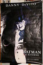 manifesto 2F advance originale BATMAN IL RITORNO Danny De Vito/il Pinguino 1992