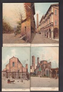 Italy BOLGNA collection lot x6 artist drawn c1900s undivided back PPCs