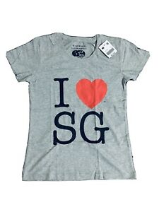 Giordano I Love Sg Grey Cotton Tshirt