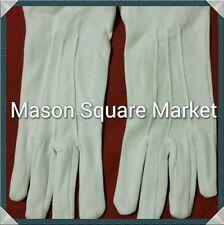 Freemason Masonic Plain White Dress Gloves