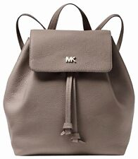 Michael Kors Backpack Bag Junie Md Flap Backpack Leather Mushroom New