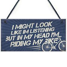 Biking Gifts for Men Dad Grandad Son Cyclist Lover Novelty Garage Man Cave Sign