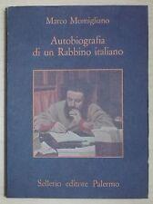 47553 Autobiografia di un Rabbino italiano - Sellerio 1986 I ed. n° 142