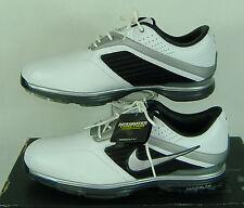 New Mens 9.5 NIKE Lunar Prevail Lunarlon White Black Golf Shoes $150 483838-100