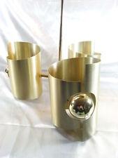 MAX SAUZE ANCIEN RARE LUSTRE ALUMINIUM DORE SUSPENSION LAMPE DESIGN VINTAGE LAMP