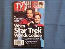 TV GUIDE A VOYAGER FIRST WHEN STAR TREK WORLDS COLLIDE NEXT GENERATION SEINFELD'