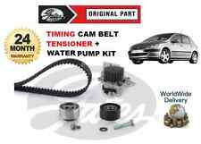 FOR PEUGEOT 307 307SW 2.0 01-08 GATES TIMING CAM BELT TENSIONER WATER PUMP KIT