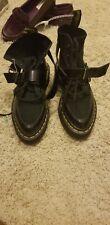 Doc Dr MARTENS Bouncing soles Combat Boots Black suede  US 6