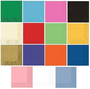 50 LUNCHEON NAPKINS (2ply) - Large Range {Amscan}(Birthday/Party/Tableware)
