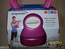 empower 2-in-1 Kettlebell Gin Miller DVD Total Body Training! 5 lb and 9 lb Pink