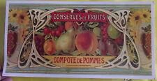 AFFICHE SCOLAIRE,PUBLICITAIRE,CARTEXPO CONSERVES DE FRUITS COMPOTE DE POMMES