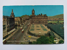 Edinburgh Vintage colour Postcard c1968 Princes Street & Scott Monument