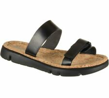 Camper Oruga Black Slip On Cork Platform Double Strap Slide Sandals Sz 37 New