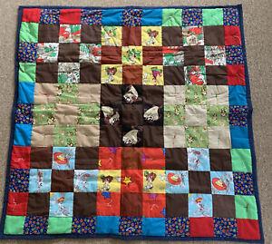Handmade Baby Quilt Gender Neutral Patchwork Blanket Novelty Taz Flinestones