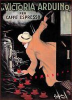 Caffe Espresso Victoria Arduino 1922 Vintage Poster Print Retro Style Wall Decor