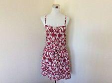 Cotton Blend Summer/Beach Geometric Dresses for Women