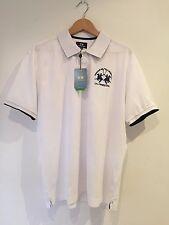 BNWT-La Martina polo shirt-blanc-Regular Fit XXL-RRP £ 90
