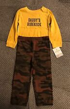 Carters Daddy's Sidekick 2 Piece Bodysuit Pants 24 Months NWT