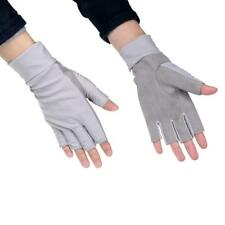 1 Pair Anti-UV Sun Protection Half Finger Fishing Gloves Breathable 50+ UPF