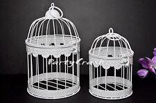 Retro Bird Cage Hanging Lantern Wedding Home Decor Set of 2