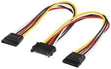 SATA Y Stromkabel 1x Stecker 2x S-ATA Strom Buchse serial ATA Adapter Verteiler