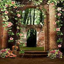 Flowers arch 10'x10' CP Backdrop Computer-painted Scenic Background HY-CM-4238