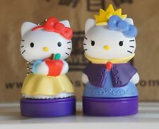 New Set of 2 Hello Kitty Doll Figure Stamp Seal  Decoration Taiwan Limited
