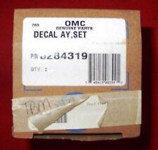 OMC DECAL SET, PART #0284319