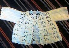 ORIGINAL Crochet PATTERN - Gorgeous Snow White Baby Jacket